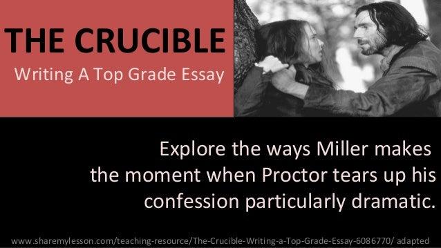 Crucible history essay