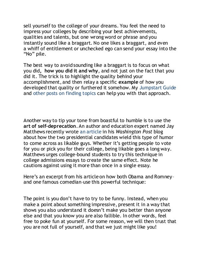 Best college application essay ever about yourself