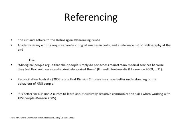 Essay references