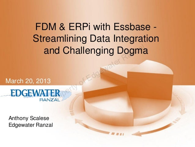 FDM & ERPi with Essbase -        Streamlining Data Integration                                   al          and Challengi...