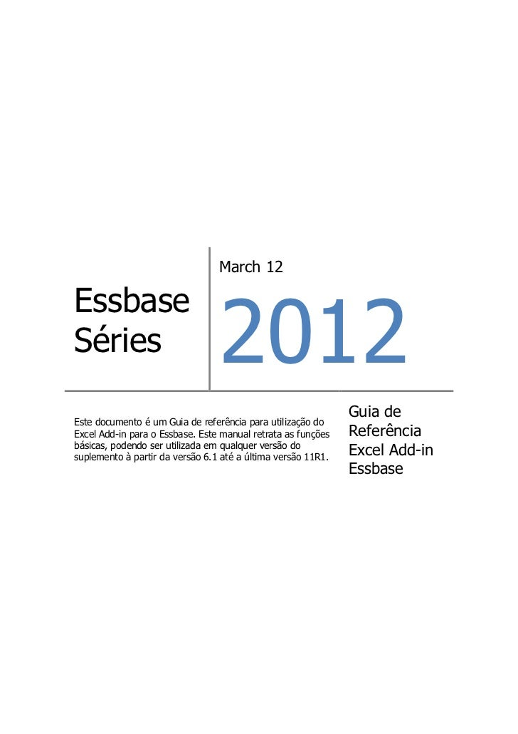 March 12                                 2012EssbaseSéries                                                              Gu...
