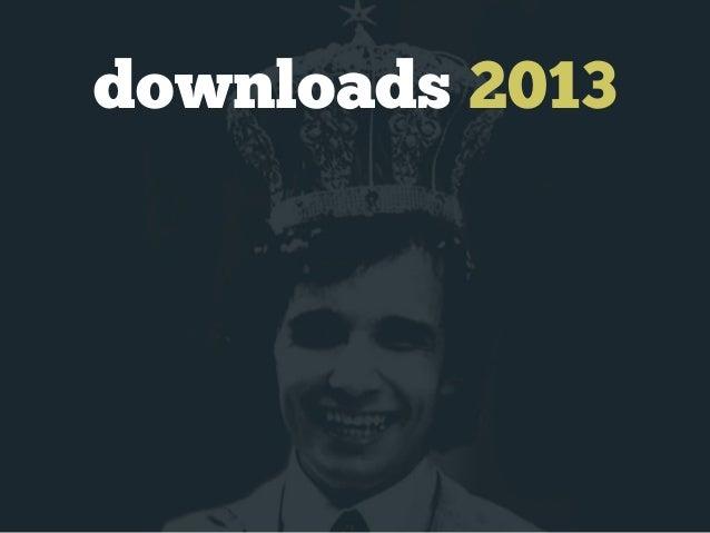 downloads 2013 300k  200k  100k  jan  fev  mar  abr  mai  jun  jul  ago  set  out  nov