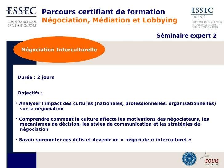 Essec executive education pr sentation n gociation - Chambre professionnelle de la mediation et de la negociation ...