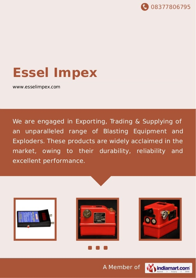 08377806795 A Member of Essel Impex www.esselimpex.com We are engaged in Exporting, Trading & Supplying of an unparalleled...
