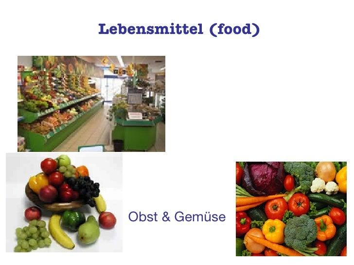 Lebensmittel (food) Obst & Gemüse
