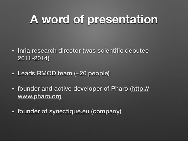 The best system for object-oriented thinking Slide 2
