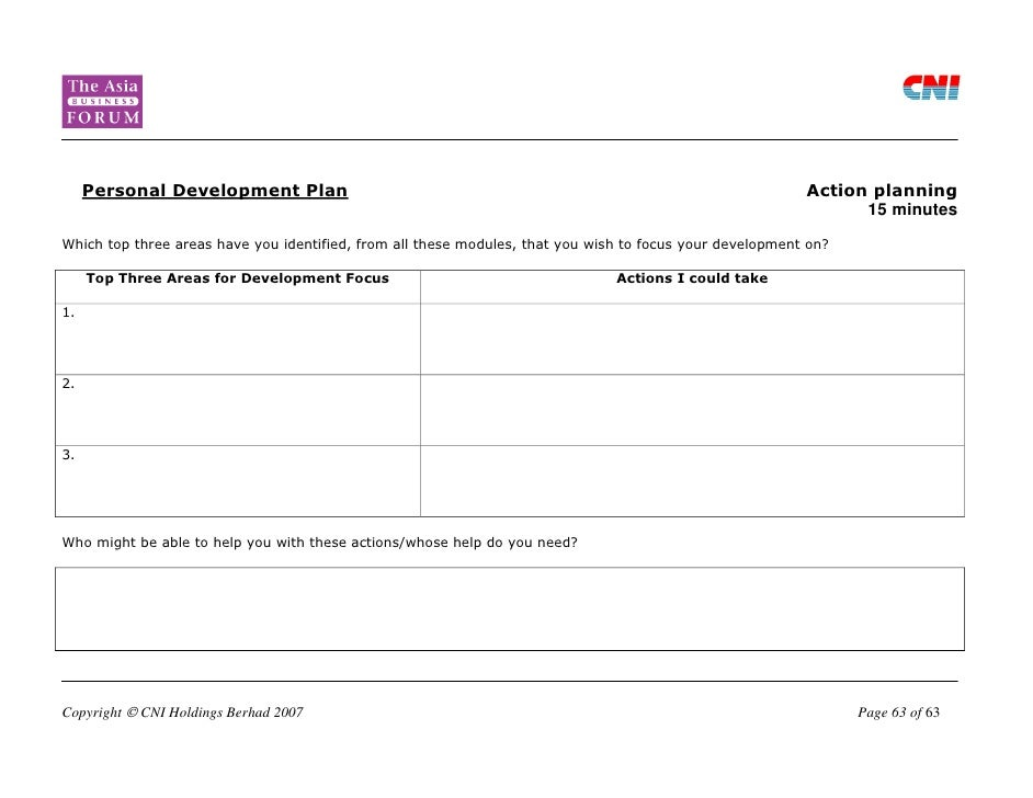 Template For Personal Development Plan] Sample Personal Development ...