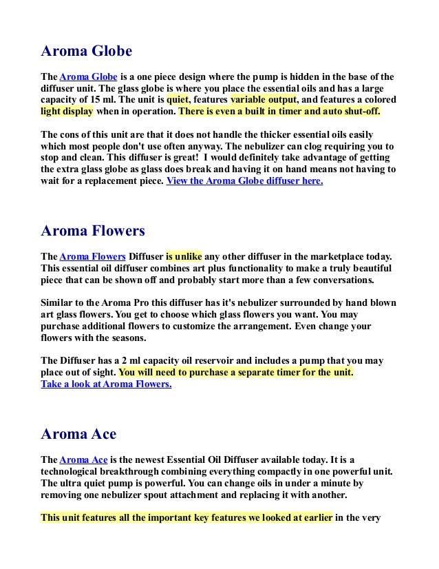guide to essential oil diffusers rh slideshare net Aroma LogoArt Aroma Beads