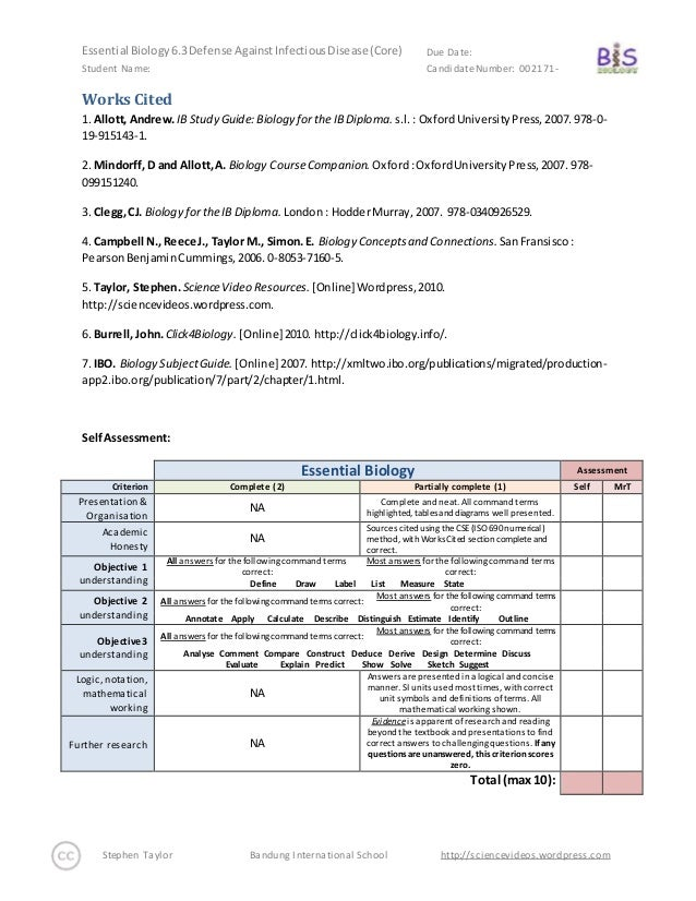 essential biology 6 3 defense against infectious disease sl only 20 rh slideshare net campbell biology reading guide answer key campbell biology in focus study guide answers