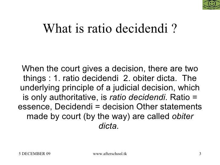what is ratio decidendi pdf