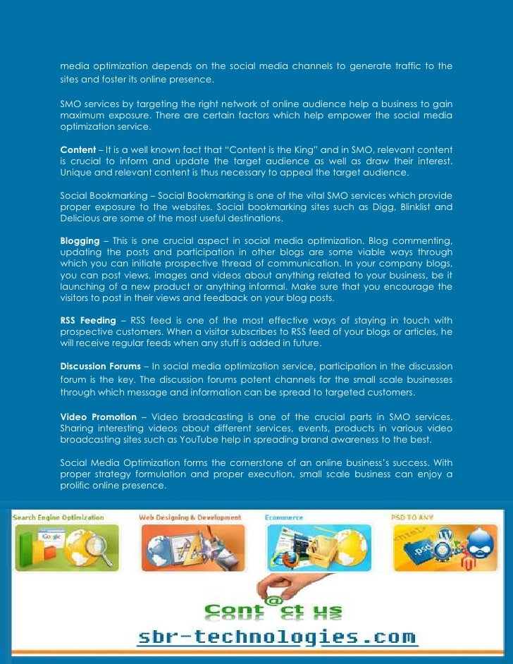 Essential Components of Social Media Optimization Slide 2