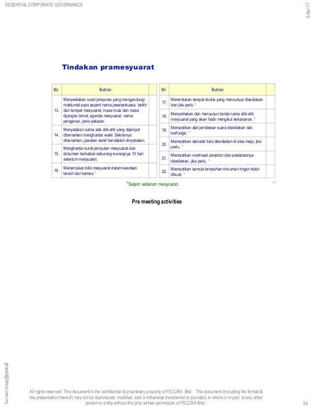 Essential Corporate Governance 5 Apr 17