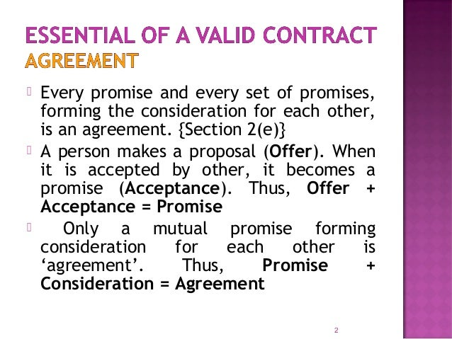 Essential Elements Of A Valid Contract. 1. 1; 2.