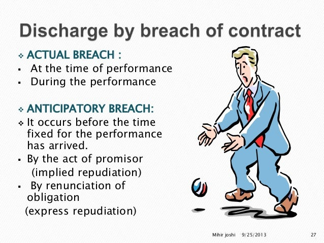Types of discharge performance breach agreement