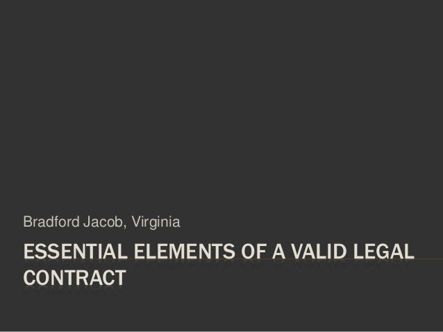 Valid Contract Essential Elements  Resume Template Sample