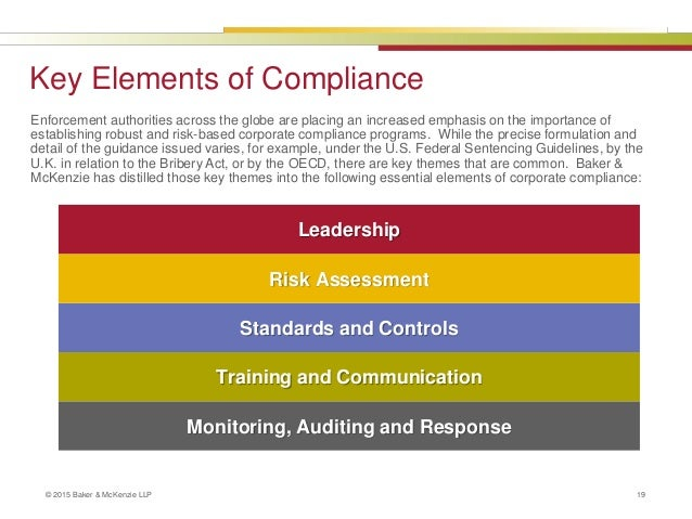 Essential elements of global compliance programs - Compliance officer certification programs ...