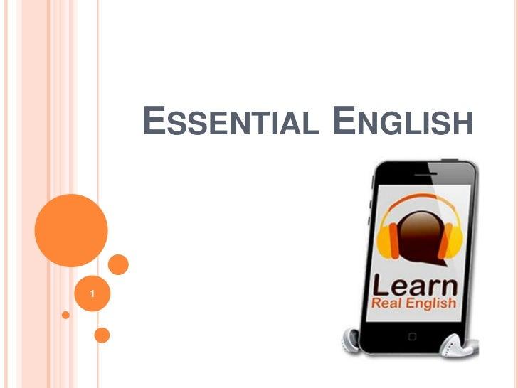 ESSENTIAL ENGLISH1