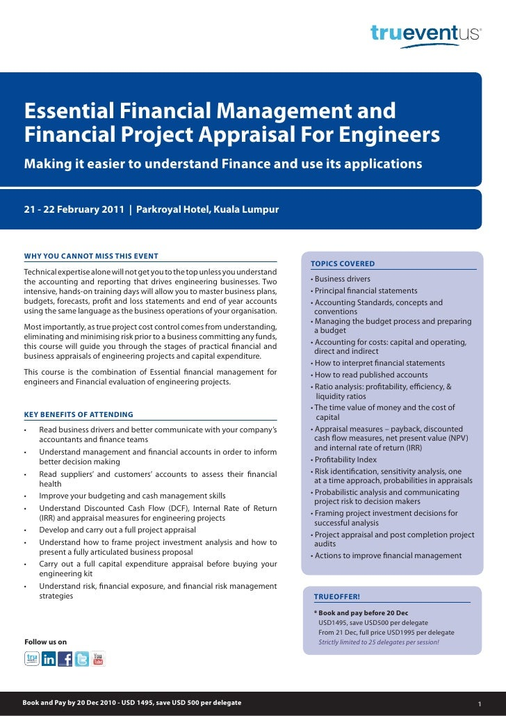 Essential Financial Management andFinancial Project Appraisal For EngineersMaking it easier to understand Finance and use ...
