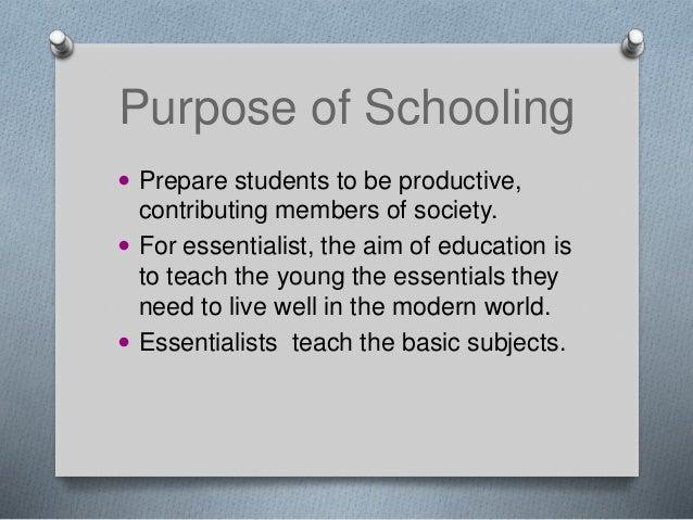essentialist curriculum