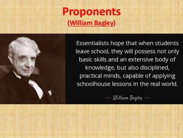 william bagley essentialism