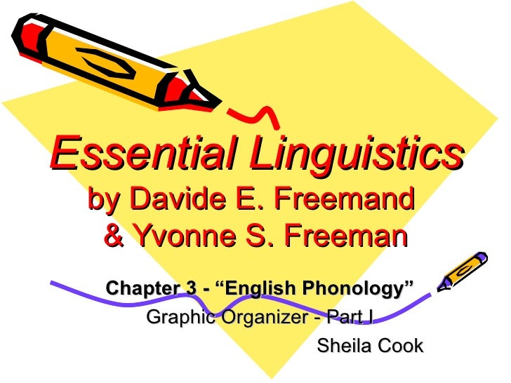 "Essential Linguistics by Davide E. Freemand  & Yvonne S. Freeman Chapter 3 - ""English Phonology"" Graphic Organizer - Part ..."
