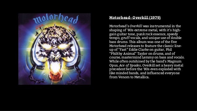 10 Essential metal albums 1970 to 1995