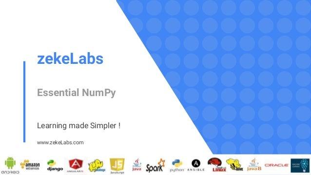 Essential NumPy