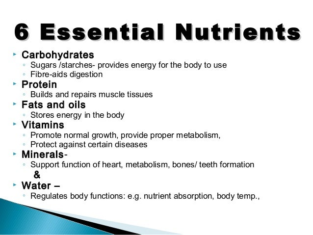 essential nutrients Every day you consume food to nourish and fuel your body, as eating many different nutrients that are essential to maintaining optimal health these are called.