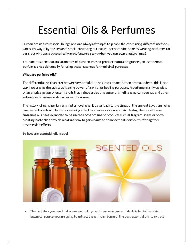 Produce natural essential oils