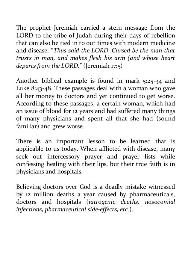 faith healing hospitals and their relationship