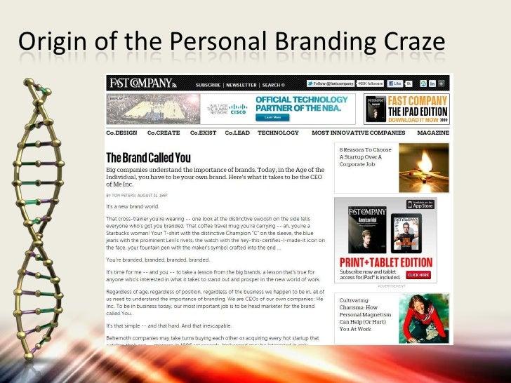 Origin of the Personal Branding Craze