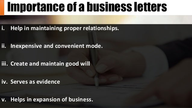 essential qualities of good business letter