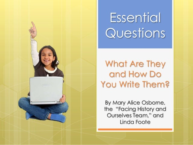 """What Are Theyand How DoYou Write Them?By Mary Alice Osborne,the """"Facing History andOurselves Team,"""" andLinda FooteEssentia..."""