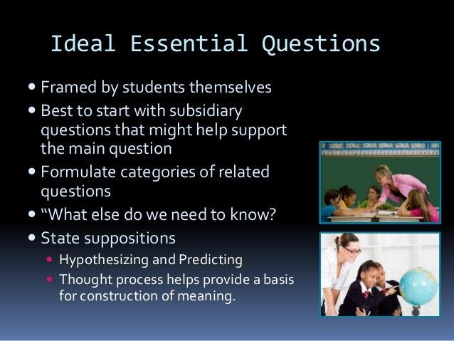 Paraphrasing essential questions