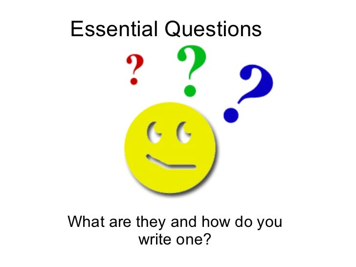 Essential Questions For Students