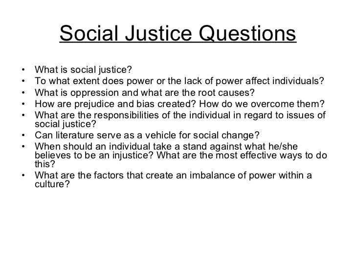Short essay on social justice