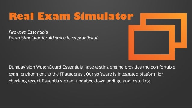 WatchGuard Fireware Essentials Exam Q/&A PDF+SIM