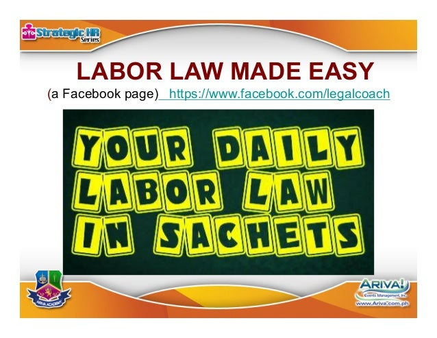 The Essentials of HR and Labor Law. July 24, 2014. Philippines.