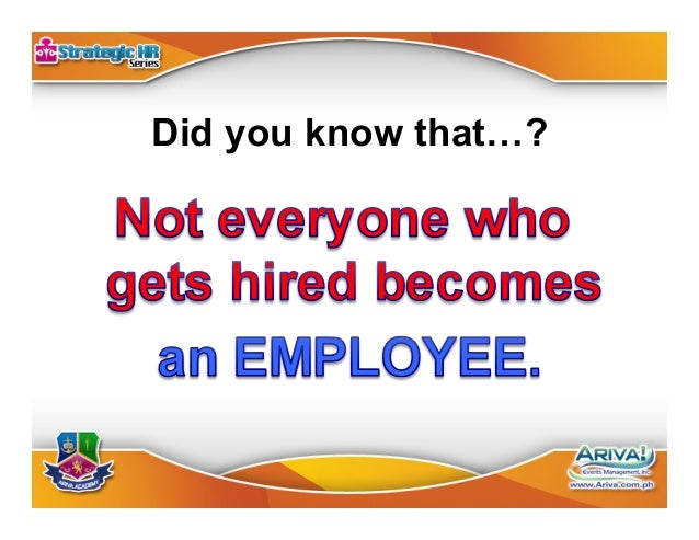 Employee •Labor Law •Control Independent Contractor •Civil Law •No Control Hiring Process