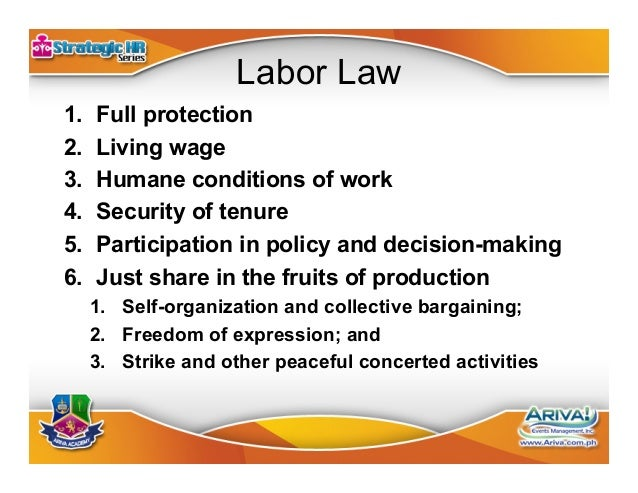 The Essentials Of Hr And Labor Law July 24 2014 Philippines