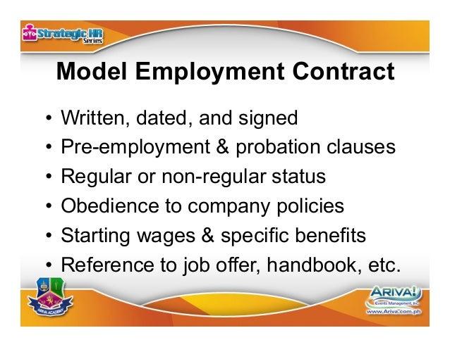 Model 201 File •Employment contract •Job description and job offer sheet •Pre-employment documentation •Job applicatio...