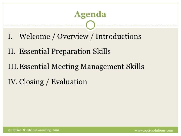 Agenda <ul><li>Welcome / Overview / Introductions </li></ul><ul><li>Essential Preparation Skills </li></ul><ul><li>Essenti...