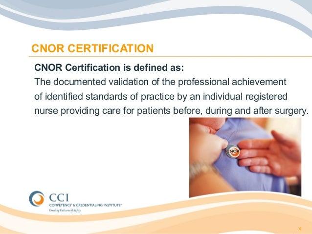 CNOR Trilogy Pt 1: Essentials of Certification