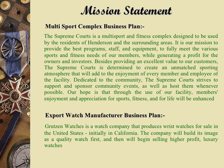 Athletic Multi Sports Complex Business Plan