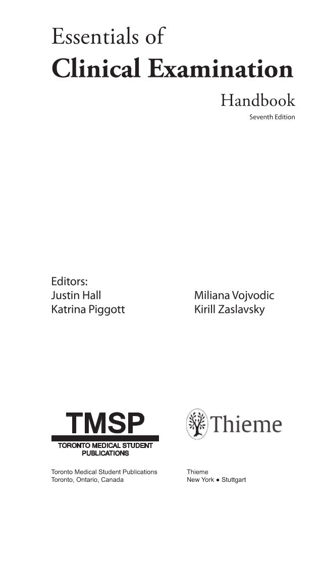 Essentials Of Clinical Examination Handbook 7 E 2013pdfkoudiai