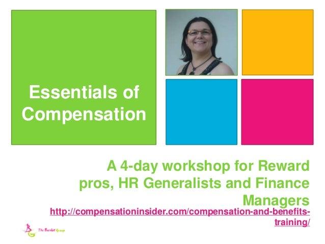 Essentials Of Compensation Website Brochure 2017