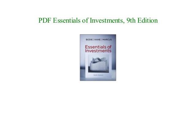 Zvi bodie investments pdf file aci forex dealing certificate