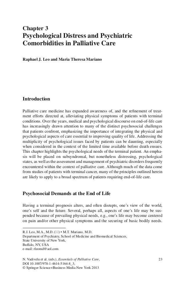 23N. Vadivelu et al. (eds.), Essentials of Palliative Care,DOI 10.1007/978-1-4614-5164-8_3,© Springer Science+Business Med...