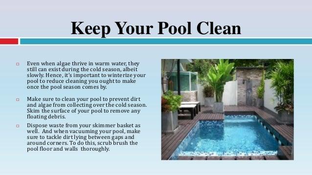Nice 4. Keep Your Pool ...