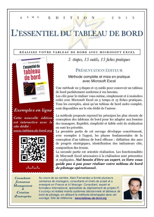 Exemples en ligne Cette nouvelle édition est interactive avec le site dédié : www.tableau-de-bord.org nnn Consultant- form...